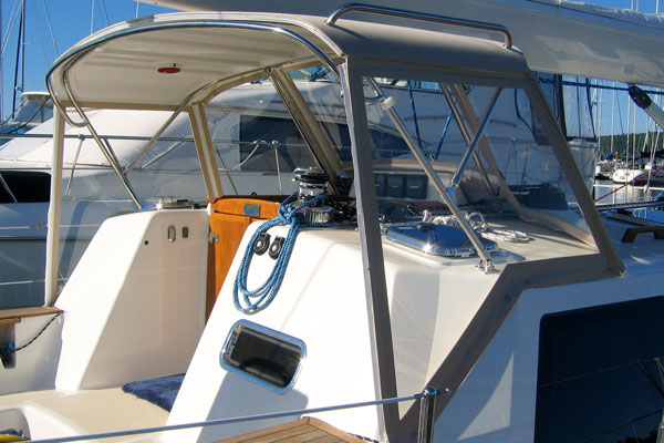 Marine Products; Hard Dodger - ShipShape Products Inc - Boat and Marine Canvas and Upholstery