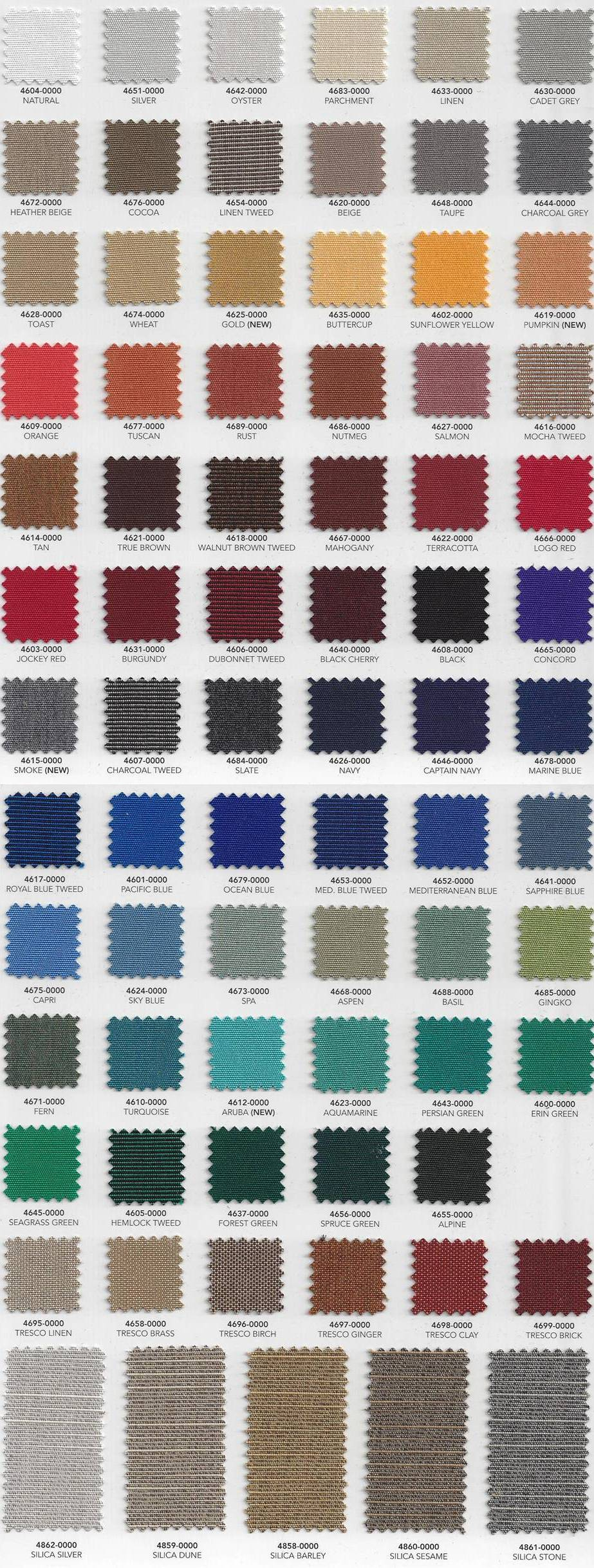Marine Products Sunbrella Color Samples Shipshape Products Inc Boat And Marine Canvas And Upholstery